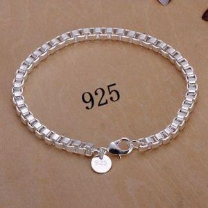 Shiny! 925 Silver Chain Link Bracelet